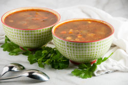 Vegetable Soup with Quinoa