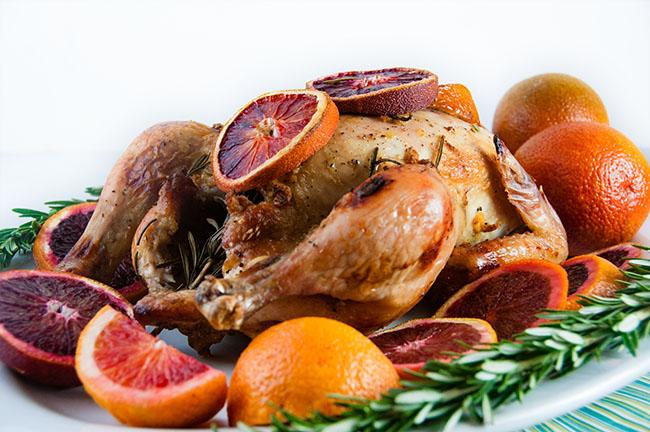 Blood Orange Roast Chicken