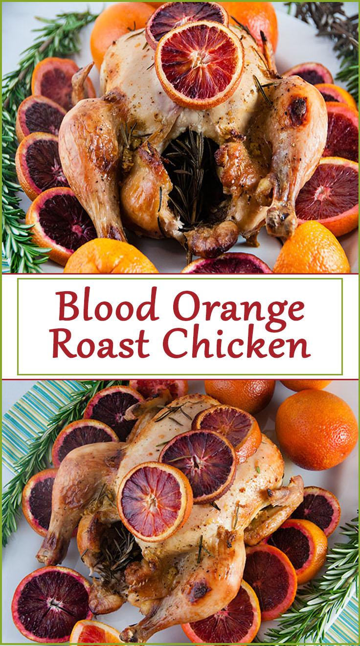 Blood Orange Roast Chicken from www.SeasonedSprinkles.com