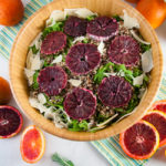 Blood Orange Salad with Arugula, Quinoa, and Parmesan