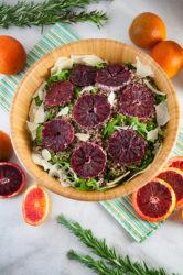Blood Orange Salad with Arugula, Quinoa, and Parmesan