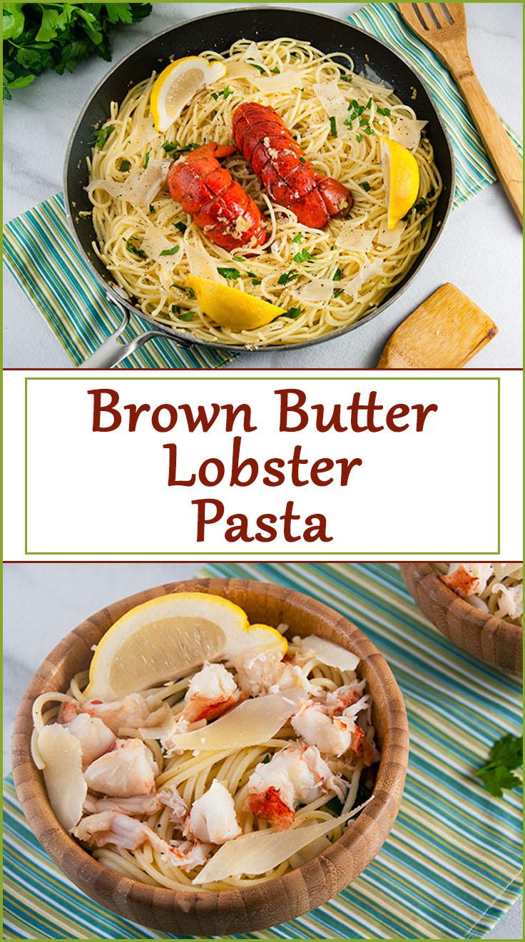 Brown Butter Lobster Pasta from www.SeasonedSprinkles.com