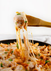 Cheesy Chicken Ziti Skillet