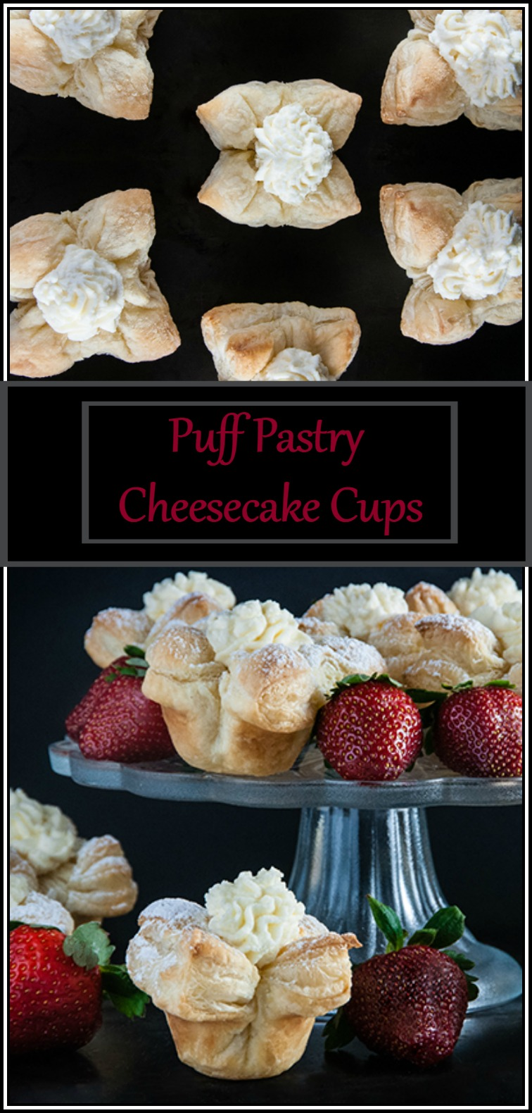 Easy Puff Pastry Cheesecake Cups from www.SeasonedSprinkles.com
