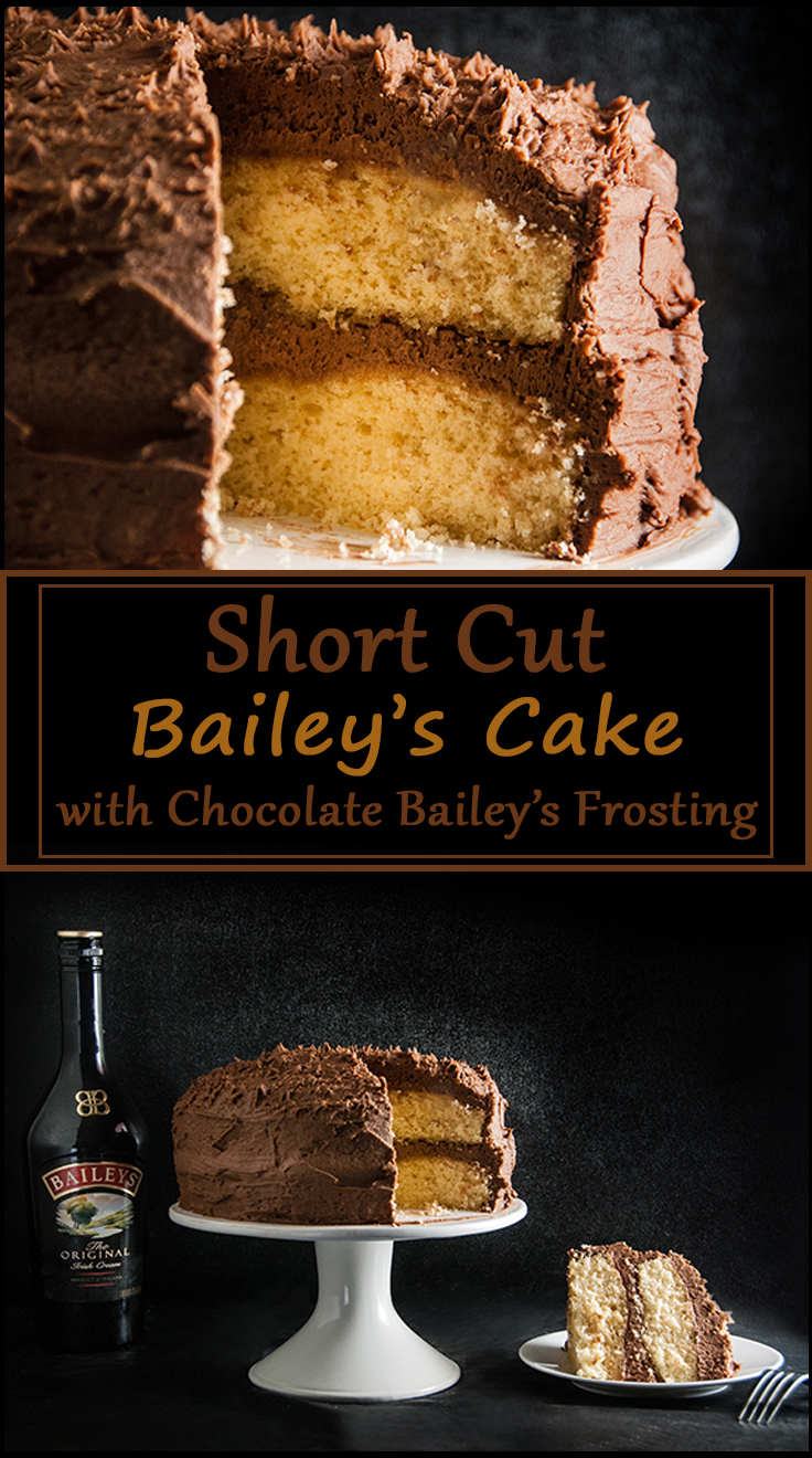 Shortcut Bailey's Cake with Bailey's Chocolate Frosting from www.SeasonedSprinkles.com