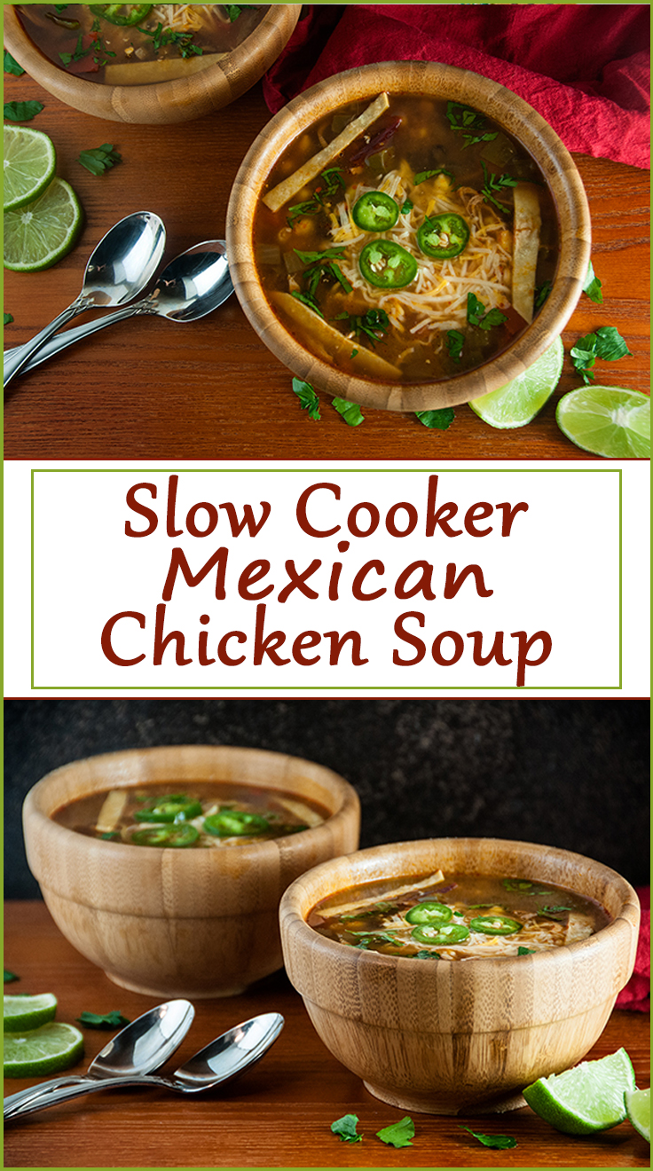 Slow Cooker Mexican Chicken Soup from www.SeasonedSprinkles.com