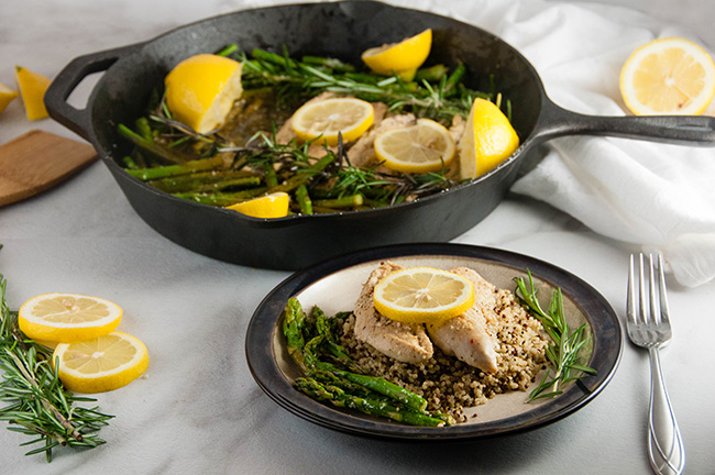 Lemon Chicken and Asparagus Skillet