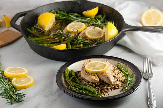 Lemon Chicken and Asparagus Skillet