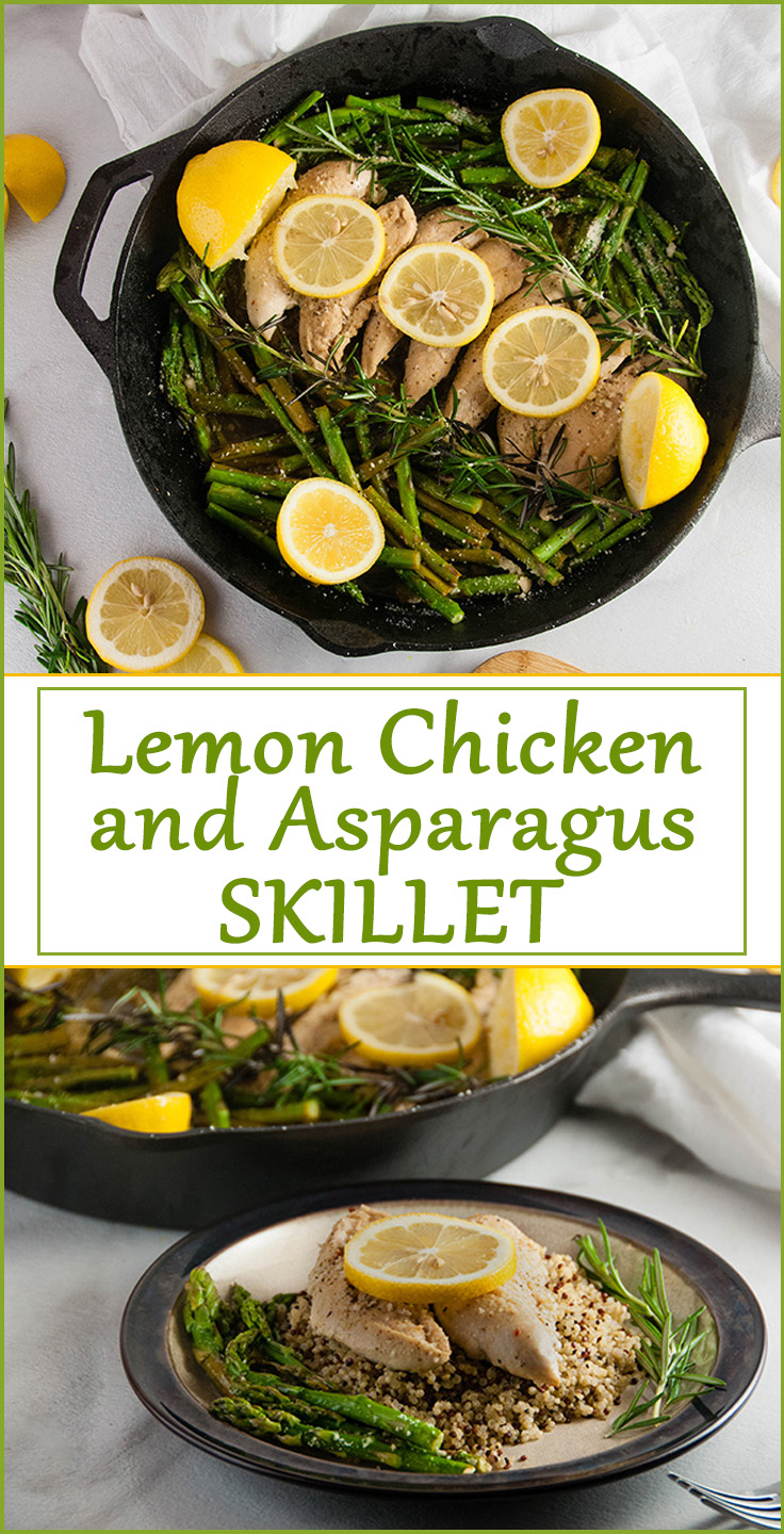 Fast and Healthy Lemon Chicken Asparagus Skillet with Quinoa