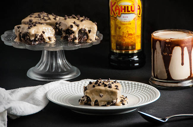 Shortcut Boozy Kahlua Brownies