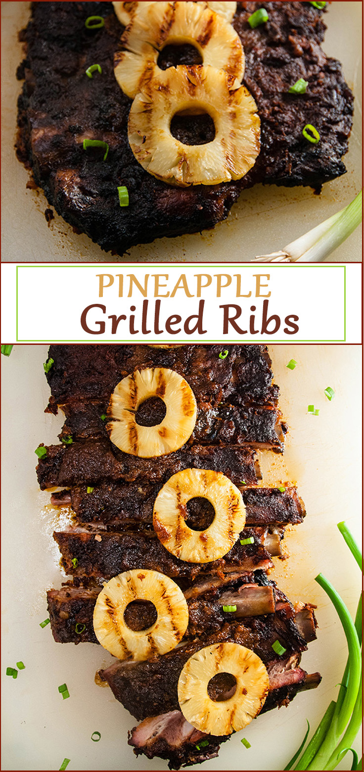 Easy Sweet and Spicy Pineapple Grilled Ribs from www.SeasonedSprinkles.com