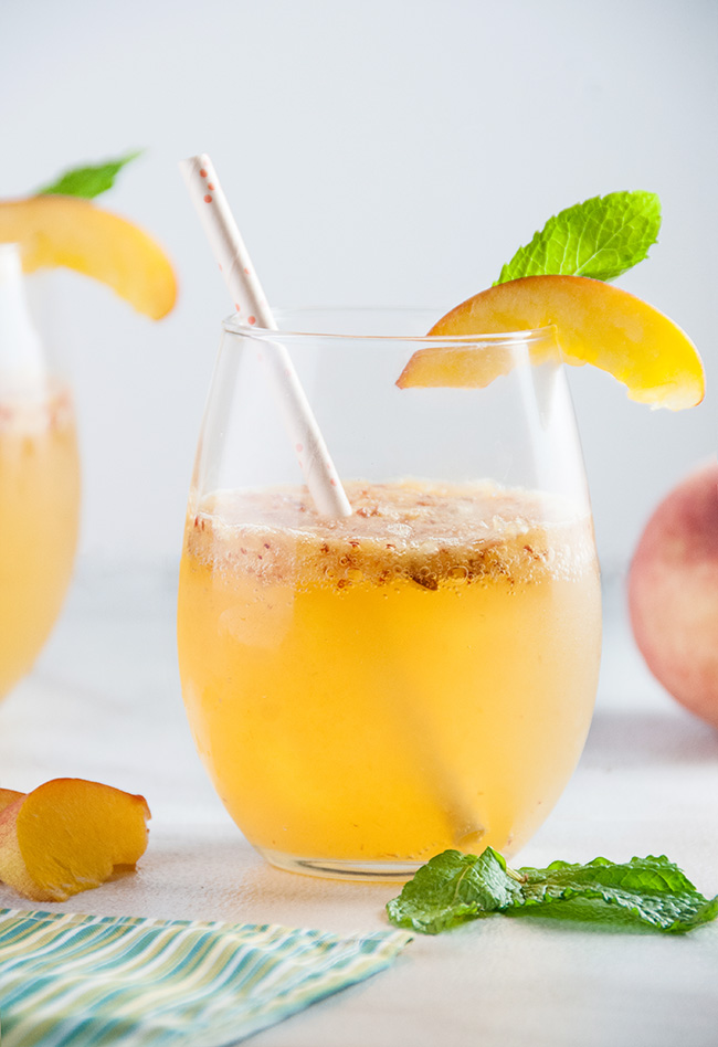 Peach Wine Spritzers