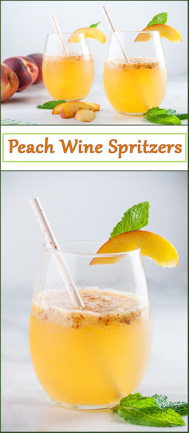 Sparkling Peach Wine Spritzers