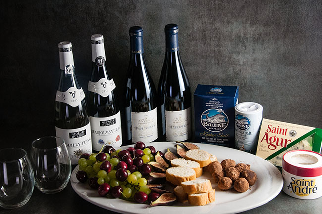Easy French Entertaining: a loaded Cheese Plate with Sea Salt Chocolate Truffles