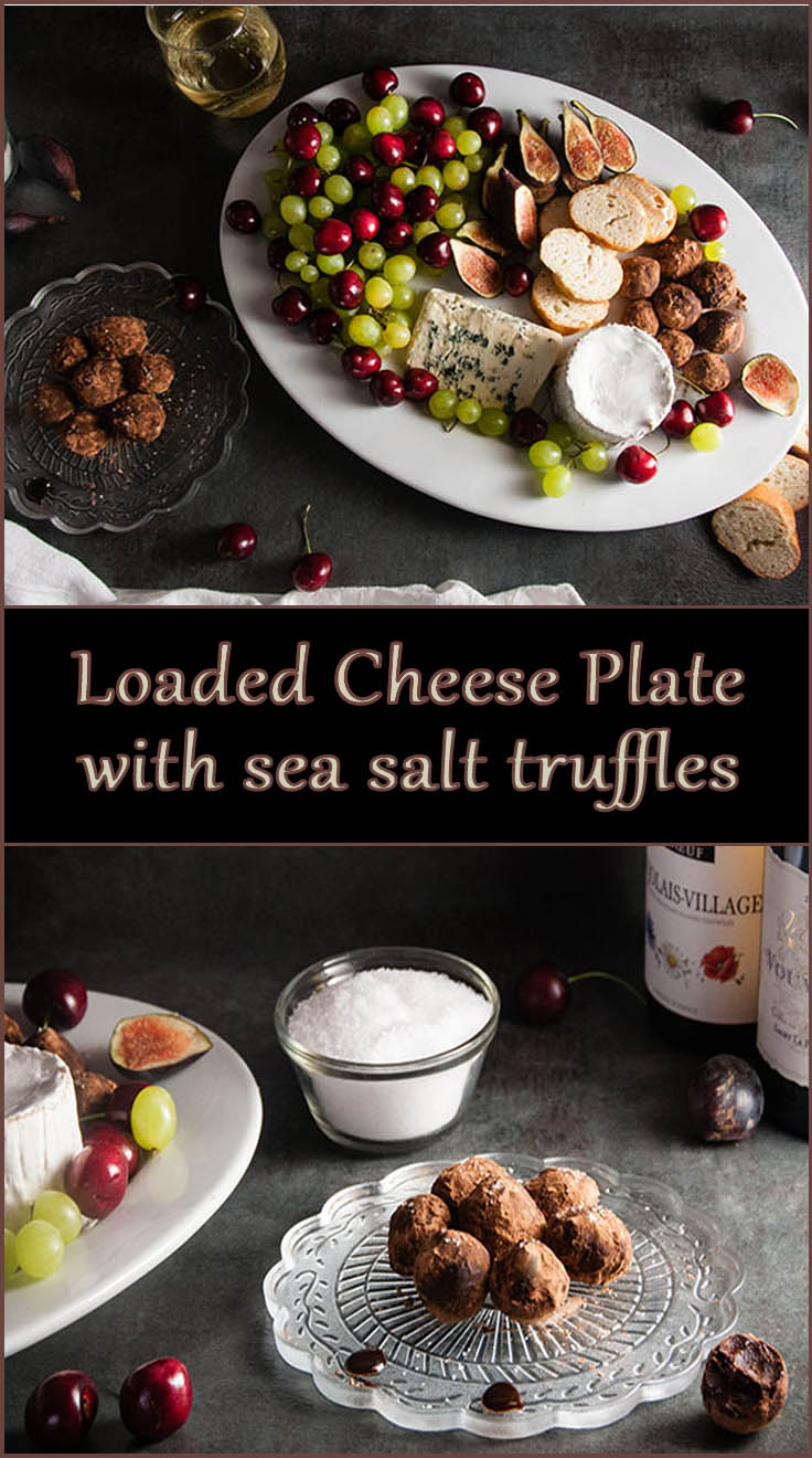 How to Put together an Amazing Cheese Plate and Homemade Sea Salt Truffles from www.SeasonedSprinkles.com