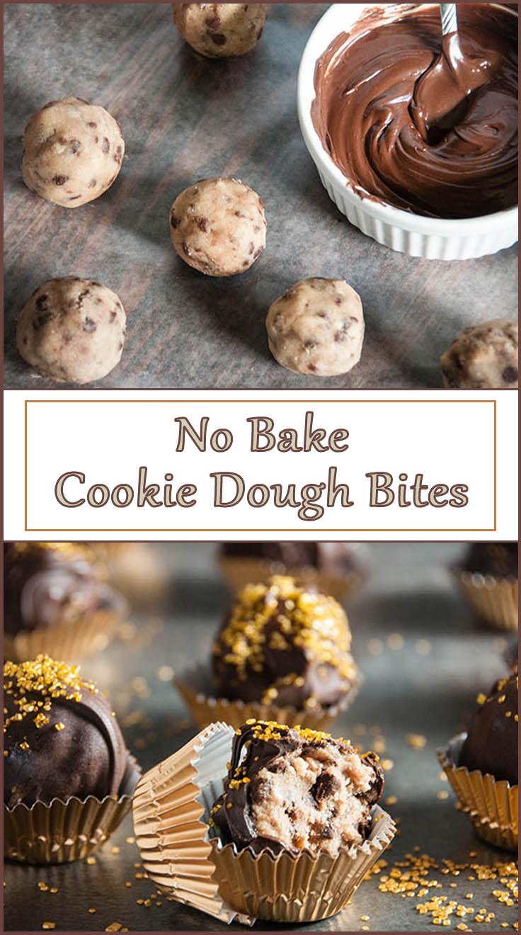 Eggless Cookie Dough Bites from www.SeasonedSprinkles.com