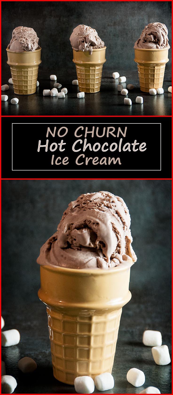 No Churn Hot Chocolate Ice Cream from www.SeasonedSprinkles.com