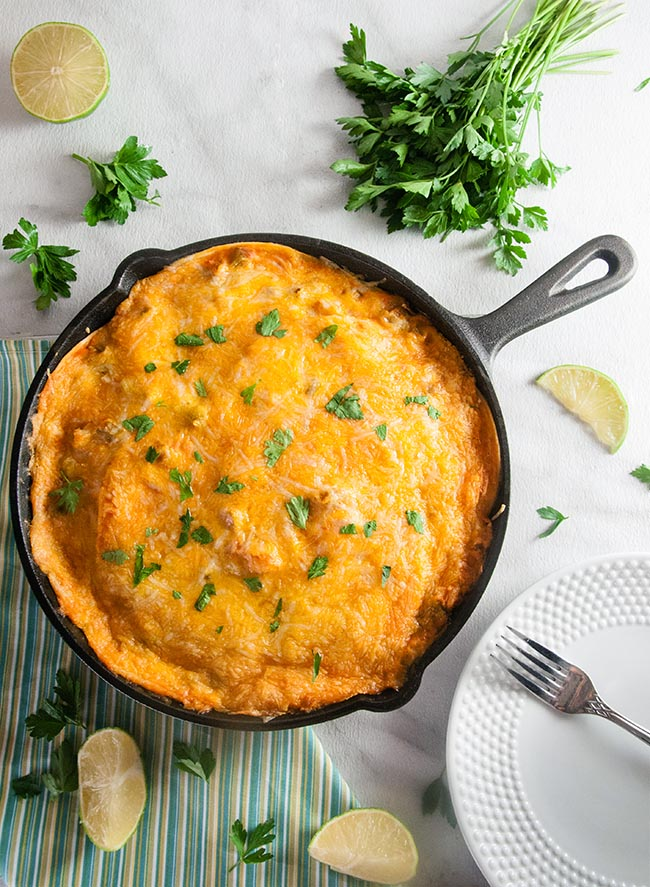 Shortcut Skillet Enchilada Lasagna