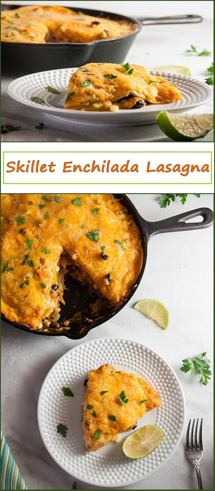 Shortcut Skillet Enchilada Lasagna from www.SeasonedSprinkles.com