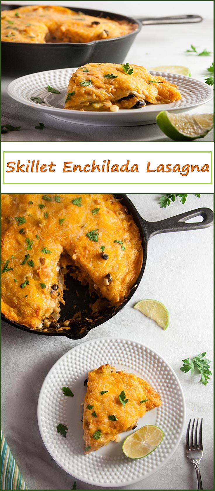 Shortcut Skillet Enchilada Lasagna from www.SeasonedSprinkles.com