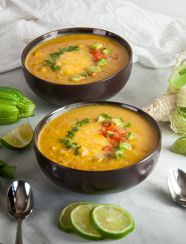 End of Summer Corn and Zucchini Chowder