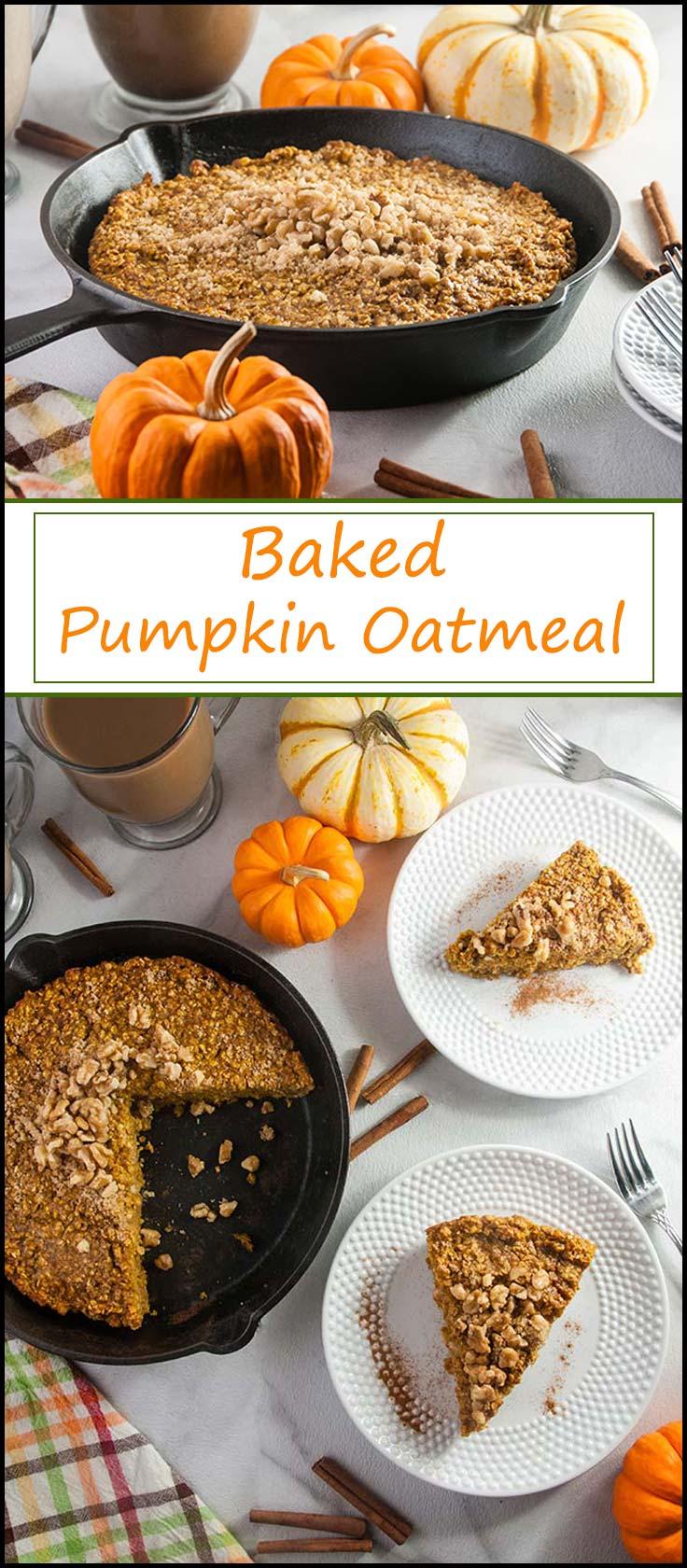 Easy Baked Pumpkin Oatmeal from www.seasonedsprinkles.com