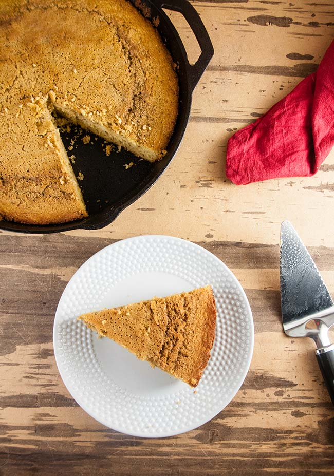 Maple Brown Butter Skillet Cornbread