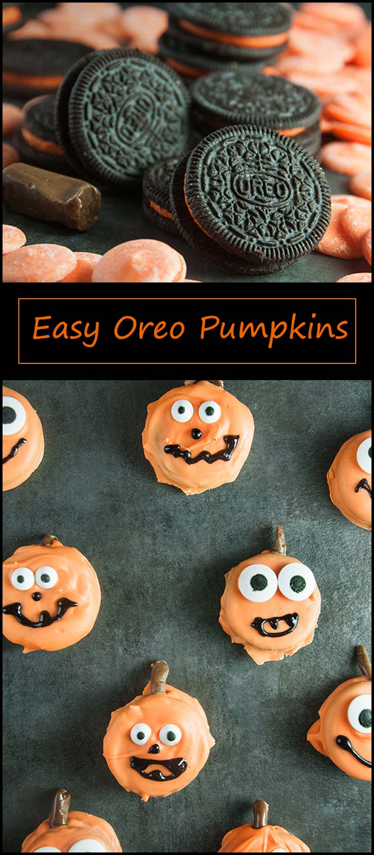 Easy Pumpkin Oreos from www.seasonedsprinkles.com