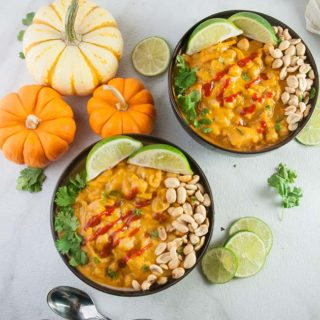 Thai Pumpkin Curry with Butternut Squash and Chickpeas