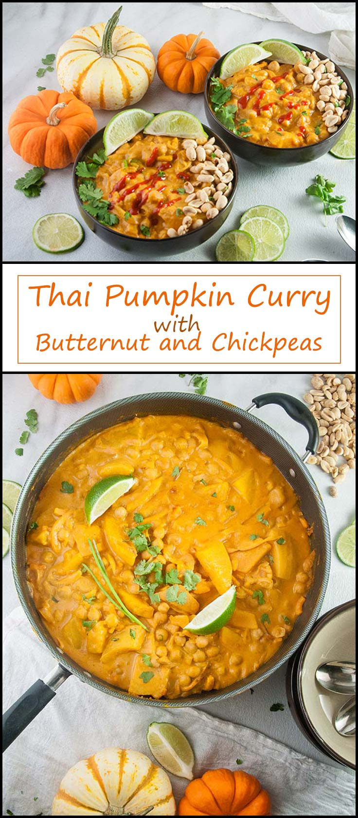 Easy Thai Pumpkin Curry with Butternut Squash and Chickpeas from www.seasonedsprinkles.com
