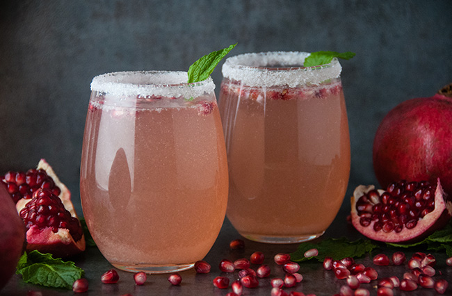Pomegranate Rosé Spritzers