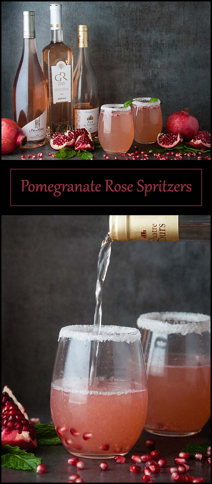 Pomegranate Rosé Spritzers from www.seasonedsprinkles.com