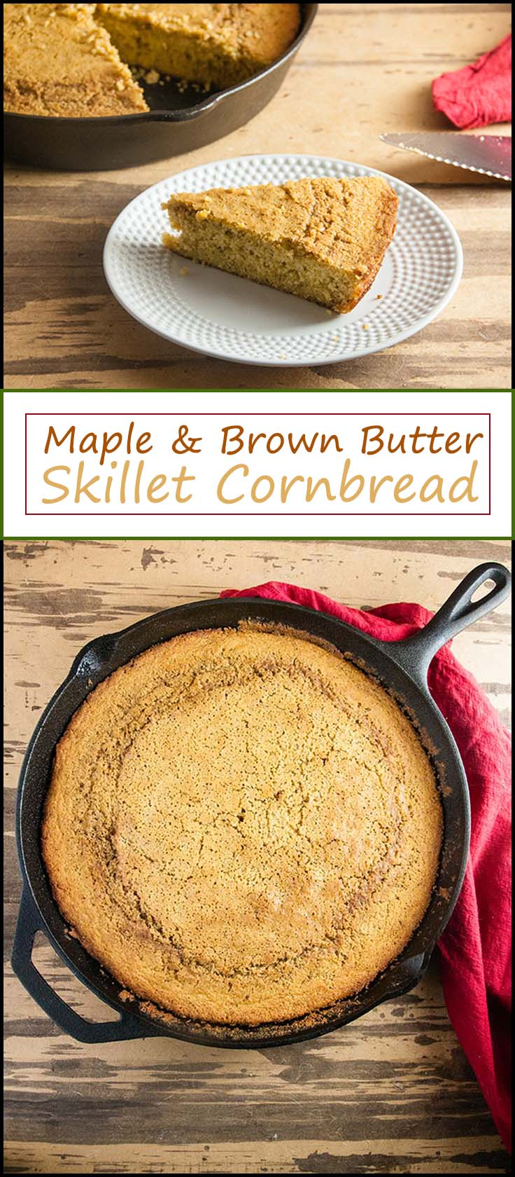 Easy Maple Brown Butter Skillet Cornbread from www.seasonedsprinkles.com