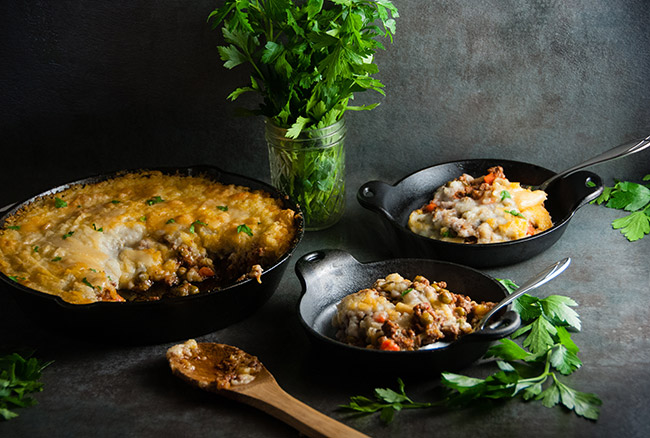 Cheesy Shepard's Pie
