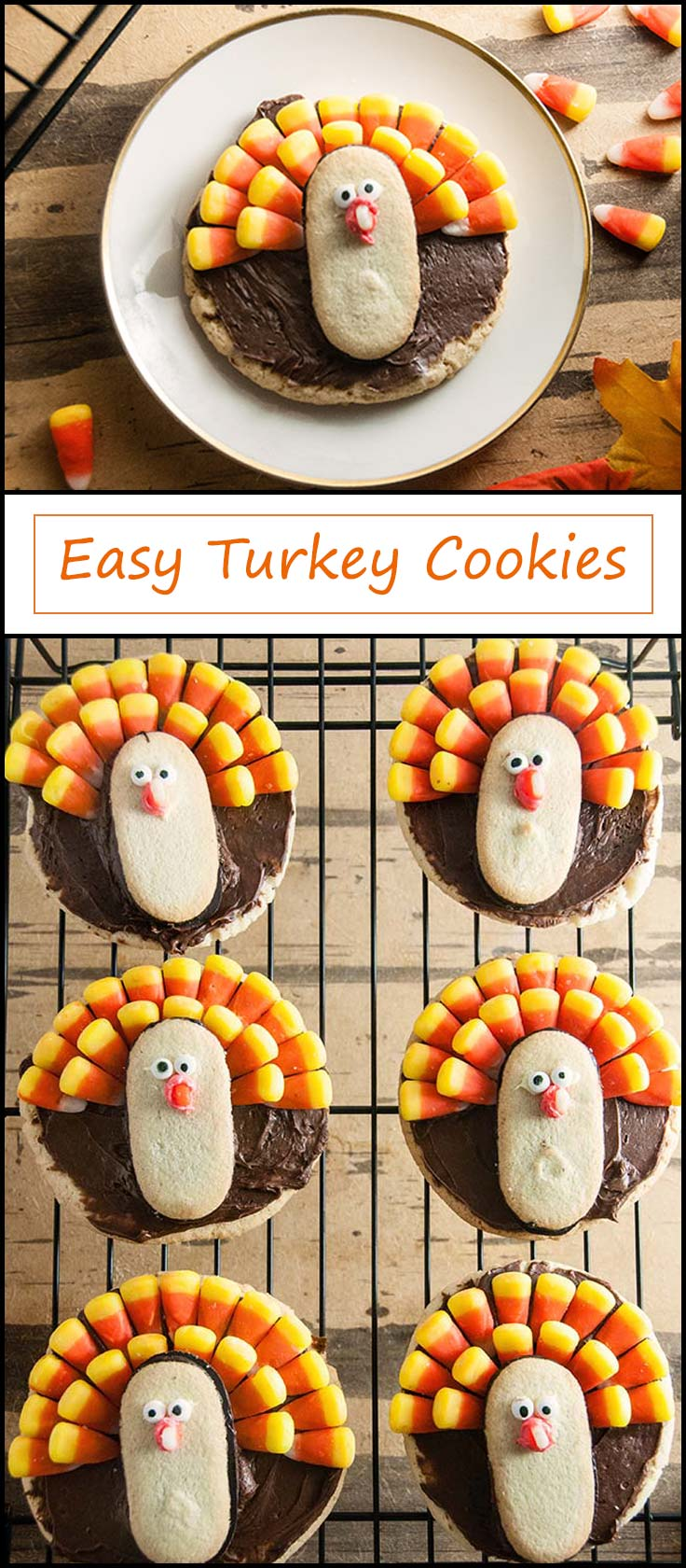 Easy Turkey Cookies from www.seasonedsprinkles.com