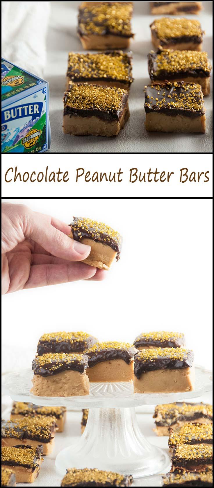 No Bake Chocolate Peanut Butter Bars from www.seasonedsprinkles.com