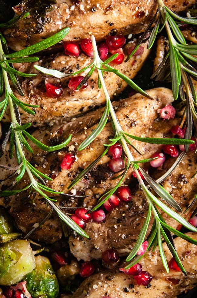 Balsamic Pomegranate Chicken Skillet