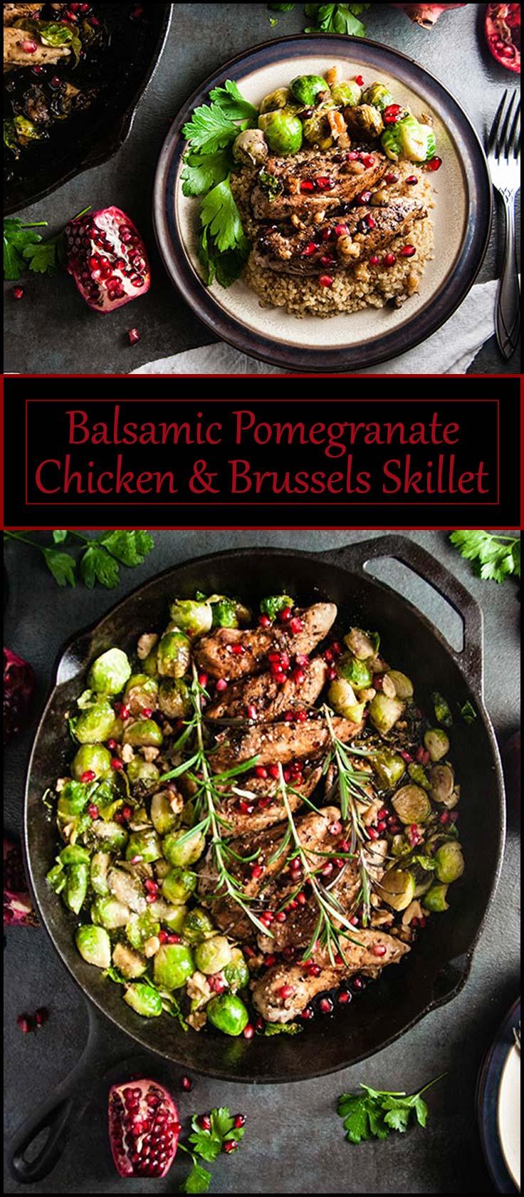Balsamic Pomegranate Chicken Skillet from www.seasonedsprinkles.com