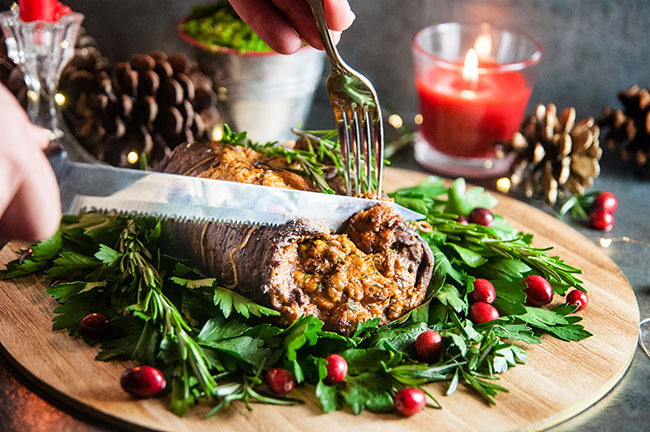 Christmas Stuffed Flank Steak