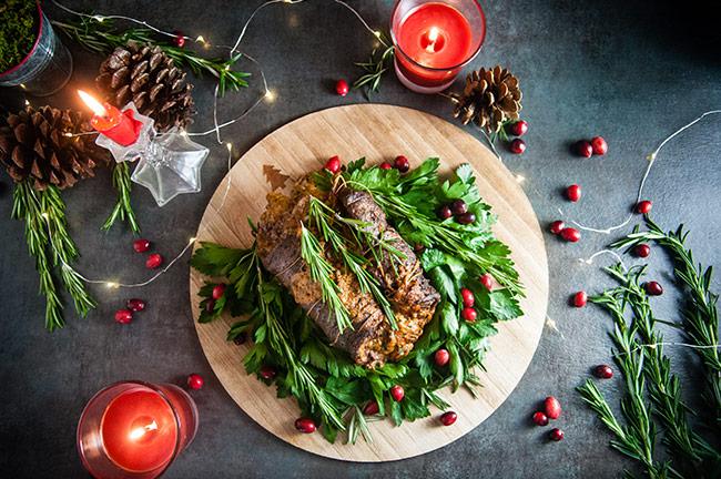 Christmas Stuffed Flank Steak