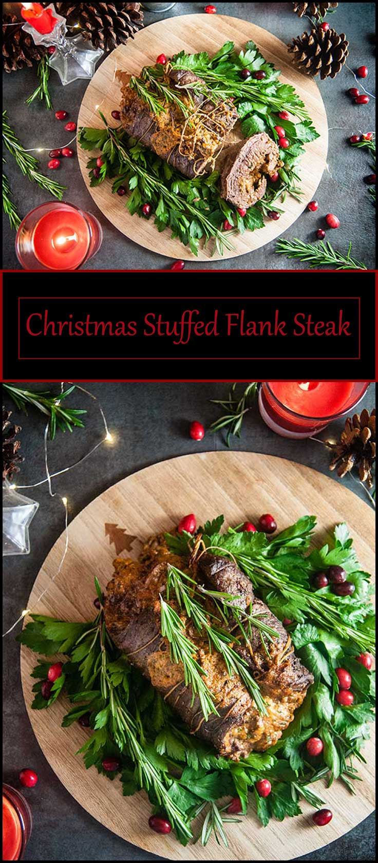 Christmas Stuffed Flank Steak from www.seasonedsprinkles.com