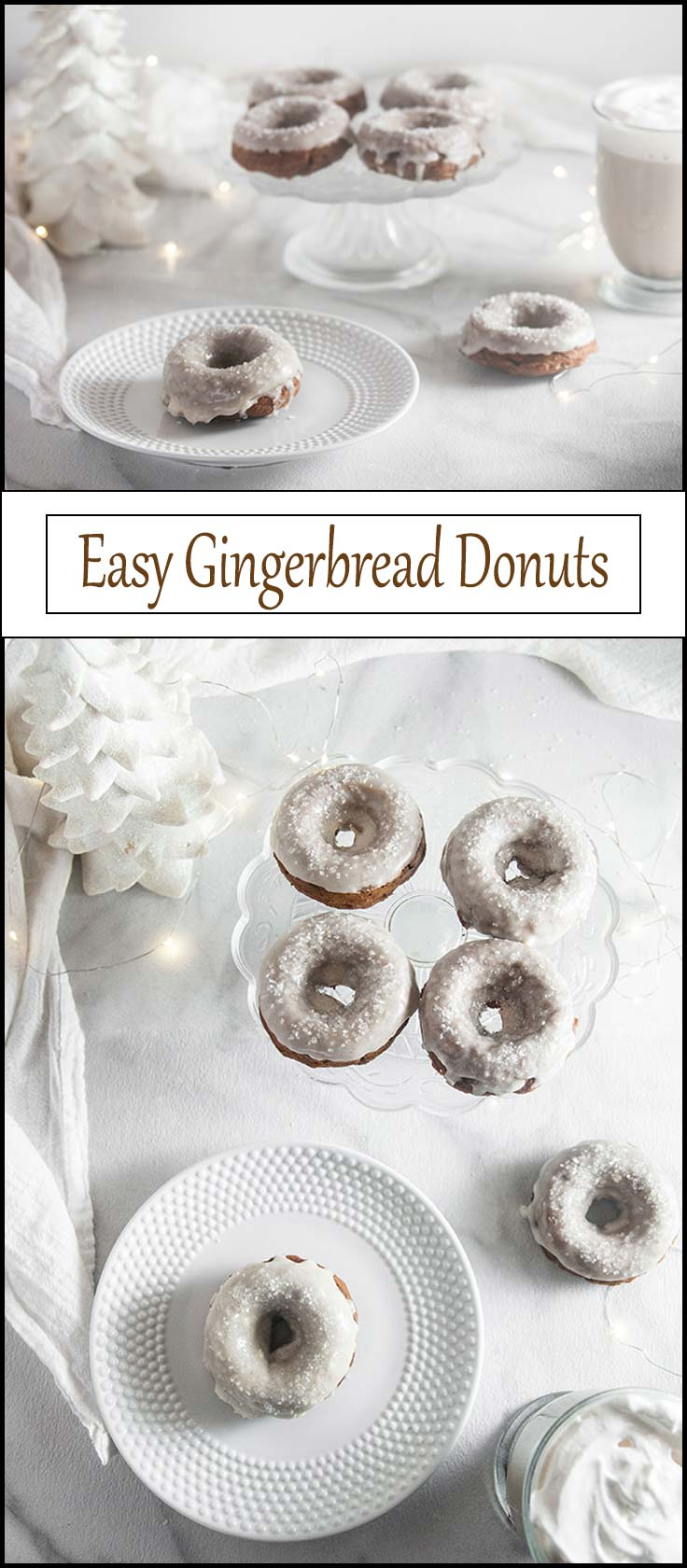 Easy Gingerbread Donuts from www.seasonedsprinkles.com