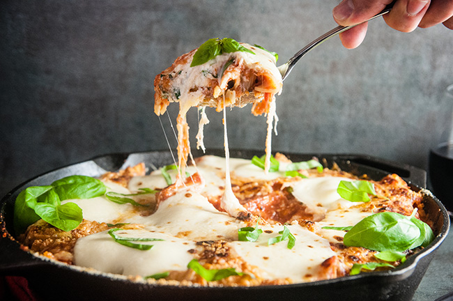 Three Cheese Skillet Ziti