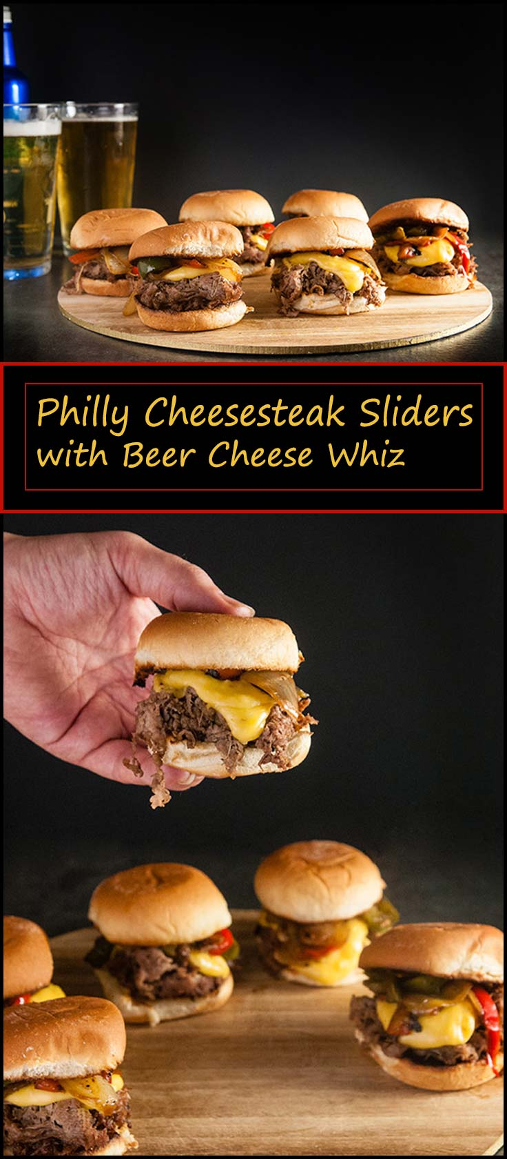 Philly Cheesesteak Sliders with Homemade Beer Cheese Whiz from www.seasonedsprinkles.com