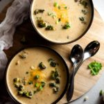 Skinny Broccoli Cheese Soup with Hidden Veggies
