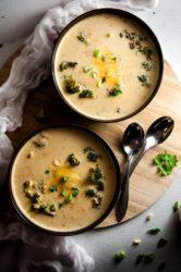 Skinny Broccoli Cheese Soup with Hidden Veggies