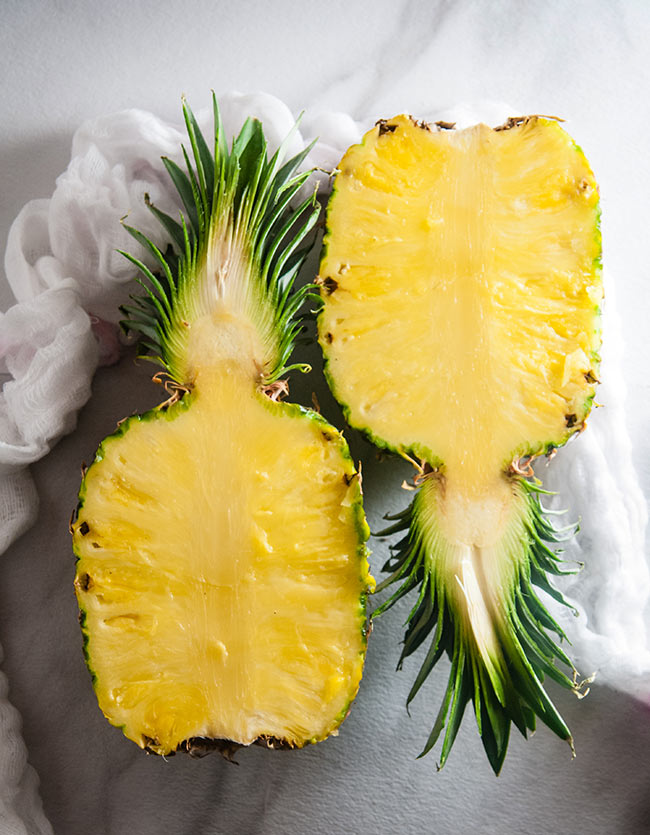 Pineapple halves