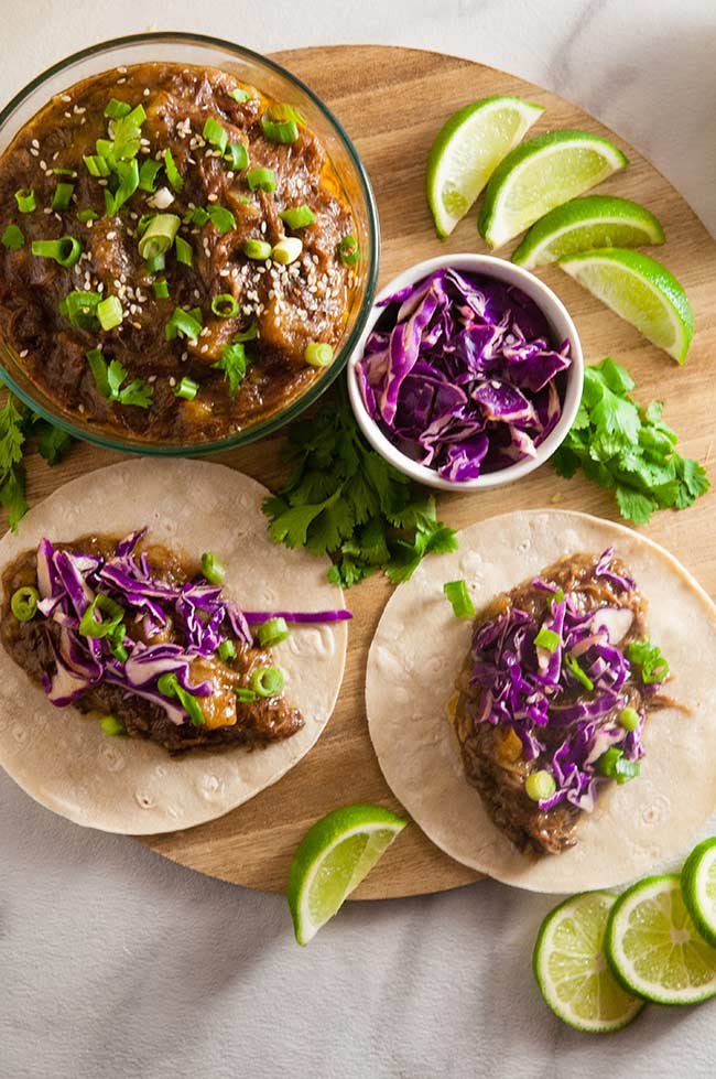 Slow Cooker Pineapple Beef Tacos
