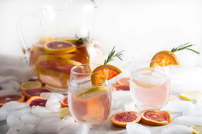 Winter Citrus Spa Water