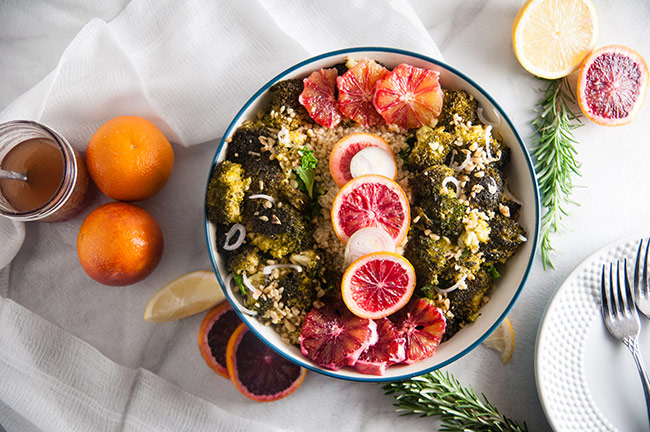A crisp bowl of kale makes the perfect base for this winter citrus salad